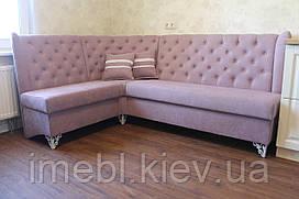 М'який кухонний куточок в стилі прованс (блідо-рожевий)