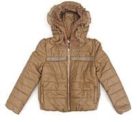 Красивая куртка для девочки из RU кожи. 134
