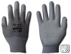 Перчатки защитные PURE GRAY полиуретан, размер 11, блистер, RWPGY11 BRADAS POLAND