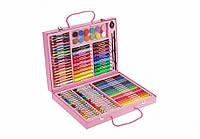 Набор для творчества Розовый 94 предмета /Набор для творчества / Цветные краски/ Карандаши цветные/ Фломастеры