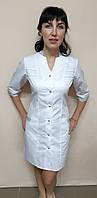 Женский медицинский халат Оксана коттон 42,44 размер три четверти рукав