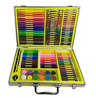 Набор для творчества Желтый 94 предмета /Набор для творчества / Цветные краски/ Карандаши цветные/ Фломастеры