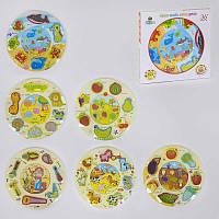 Деревянная игра Пазл+Вкладыш С 37688 6 видов