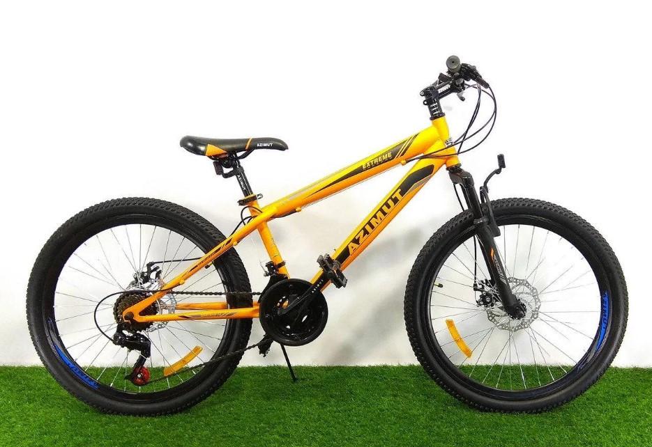 "Спортивный велосипед 26 дюймов Azimut  Extreme GFRD рама 14"" ORANGE"