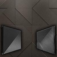Набор из 2-х форм для 3D панелей Fields / Поля - формы из АБС пластика для гипсовых панелей, фото 1