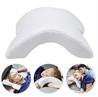 Подушка пена с эффектом памяти Дорожная подушка для шеи изогнутая анатомическая, фото 1