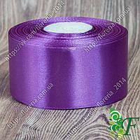 120-Атласная лента 5 см за 33 м фиолетовая
