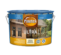 Pinotex Ultra 10 л  Высокоэффективная защитная пропитка для древесины  с добавлением УФ-фильтра тонируется