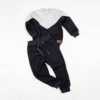 Костюм (джемпер + штаны) Little Bunny с начесом 128см Серо-Черный (1175085)
