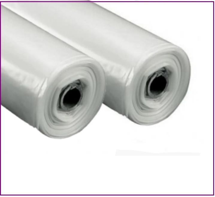 Пленка белая 50 мкм (3м*100 м.) прозрачная, полиэтиленовая