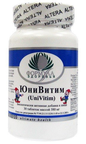 ЮниВитим Юни Витим Альтера Холдинг, 30 таблеток