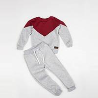 Костюм (джемпер + штаны) Little Bunny без начесом 104см Кораллово-Серый (1241085)