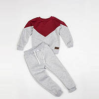 Костюм (джемпер + штаны) Little Bunny без начесом 128см Кораллово-Серый (1245085)