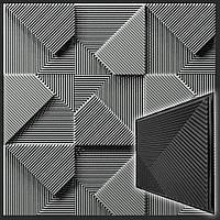 Форма 3D панелей Fields / Поля №2 - формы из АБС пластика для гипсовых декоративных панелей, фото 1