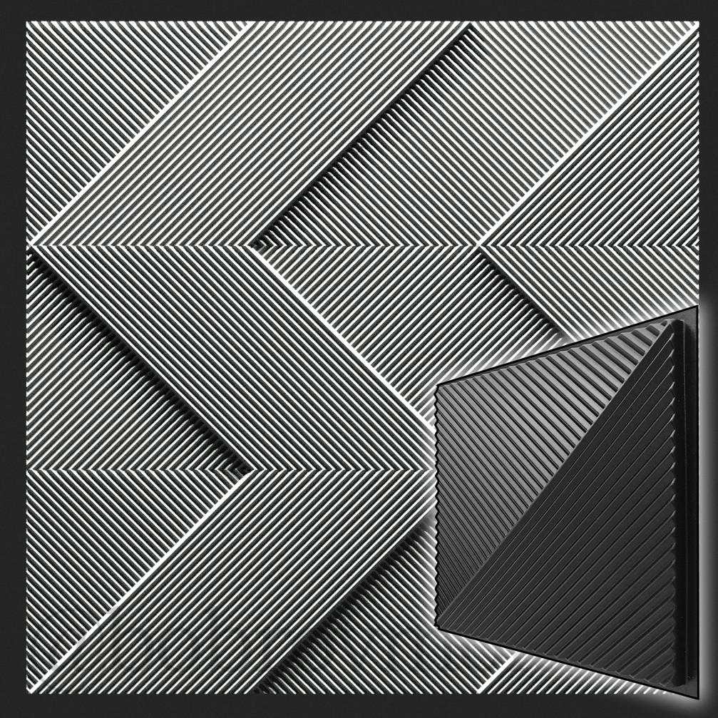 Форма 3D панелей Fields / Поля №1 - формы из АБС пластика для гипсовых декоративных панелей