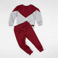 Костюм (джемпер + штаны) Little Bunny без начесом 122см Кораллово-Серый (1267085)