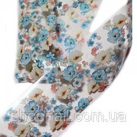 Фольга для нігтів Квіти (50 см)