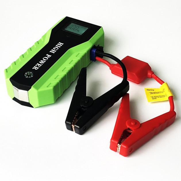 Пуско-зарядное устройство Jump Starter TM30 Plus Черно-зеленый с фонариком