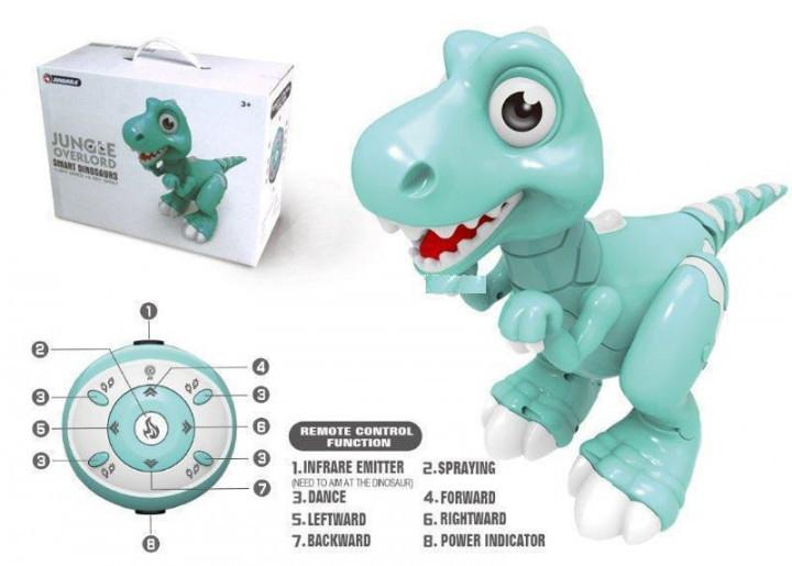 Интерактивный smart динозавр на радиоуправлении jiabaile Smart Robo пускает пар со звуком Умный питомец
