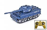 Игрушка боевой детский танк для мальчиков на радио управлении с пультом вездеход 369-5 Синий