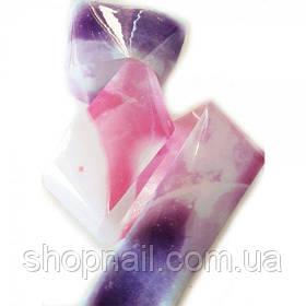 Фольга для нігтів Рожево-фіолетова (50 см)