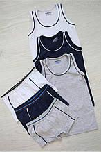 Детский комплект нижнего белья для мальчика Katamino Турция трусы и майка Серый