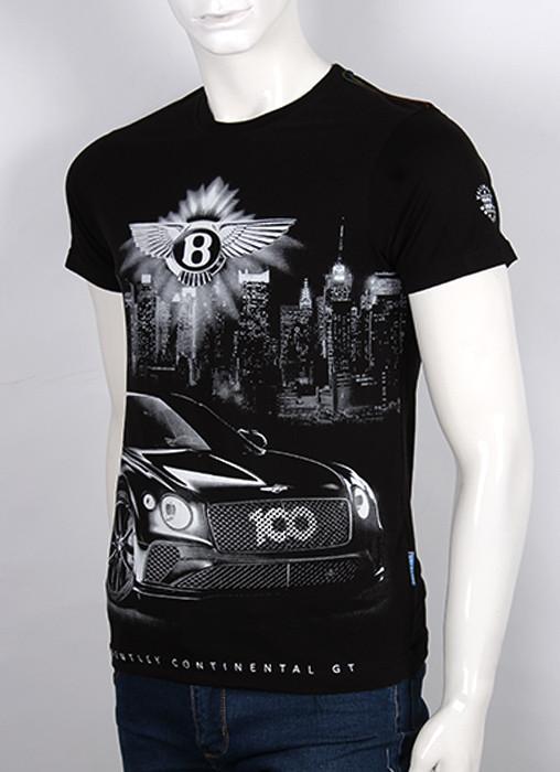 Футболка 3D Valimark Brand  Bentley (Бентли) черная