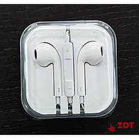 (DL) Hands Free (AAAA) Ear Pods (с логотипом Apple, в пластиковой коробке)