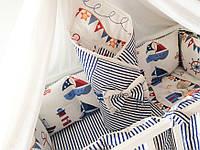 Бортики в детскую кроватку морские для мальчика