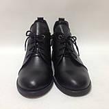 39,40 р. Женские кожаные закрытые туфли-полуботинки на шнурках красивые модные, фото 2