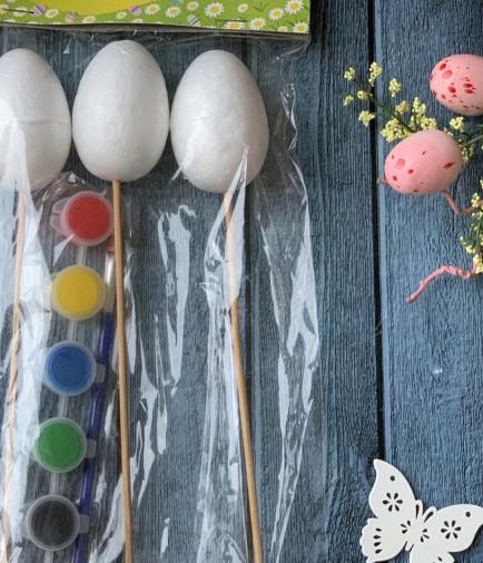 Набор для творчества Пасхальный краски + заготовки яиц