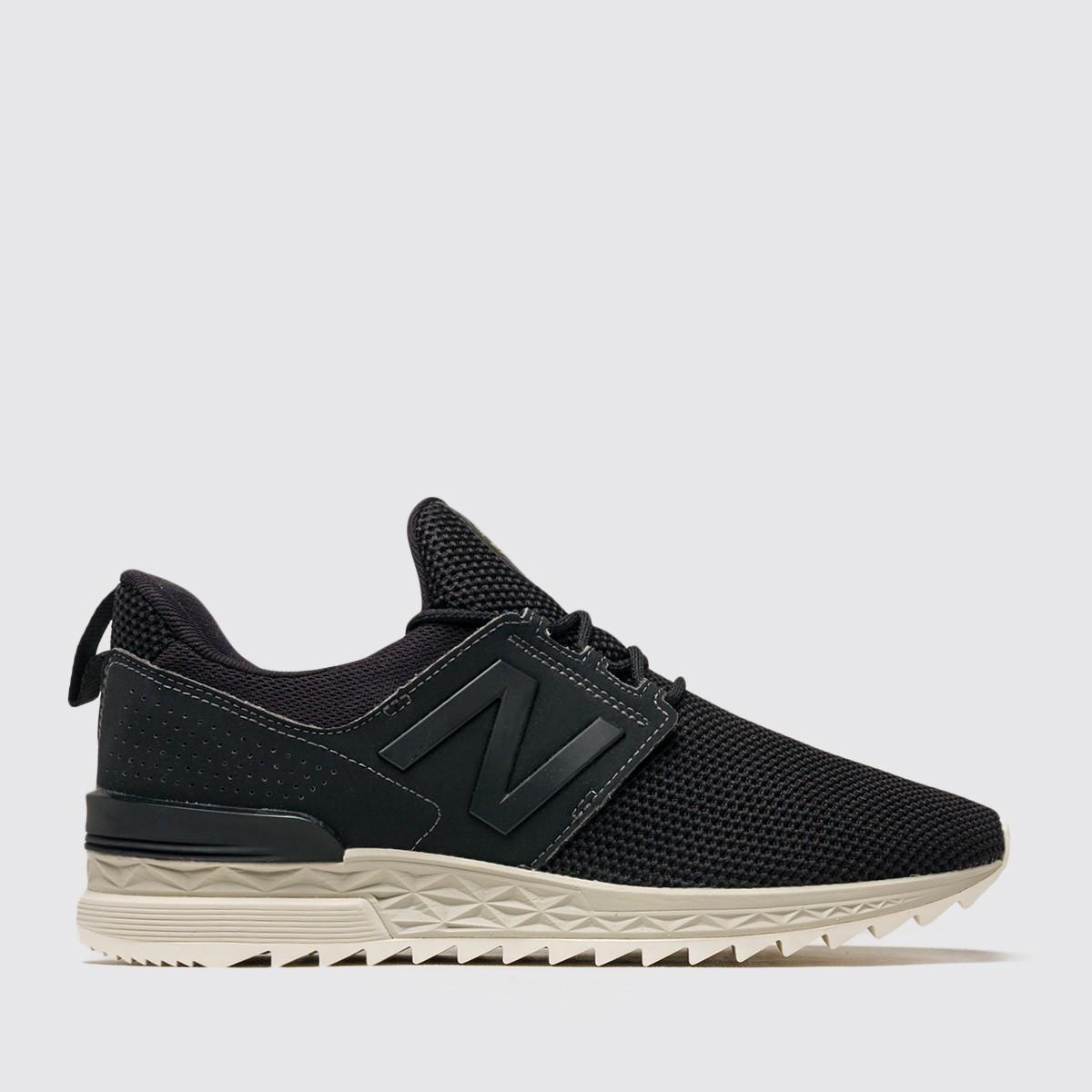 Оригинальные черные мужские кроссовки New Balance 574 Sport MS574DUK