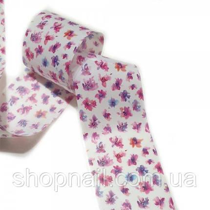Фольга для нігтів Абстрактні квіти (50 см), фото 2