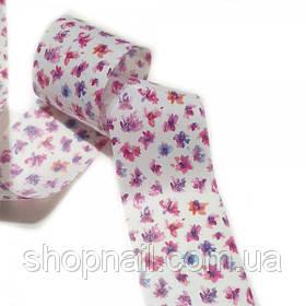 Фольга для нігтів Абстрактні квіти (50 см)