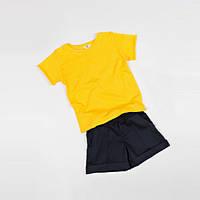 Костюм (футболка + шорты) Little Bunny 86см Желто-Черный (1752017)