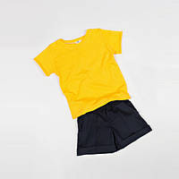 Костюм (футболка + шорты) Little Bunny 98см Желто-Черный (1754017)