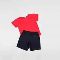 Костюм (футболка + шорты) Little Bunny 98см Кораллово-Черный (1765017)