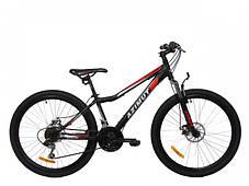 "Спортивный велосипед 26 дюймов Azimut Forest FRD рама 13"" BLACK-RED, фото 3"