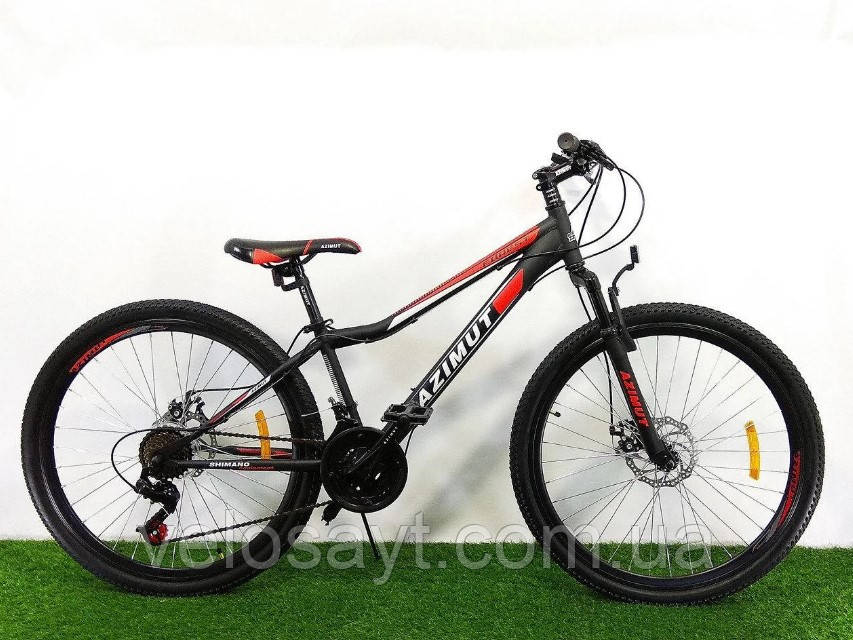 "Спортивный велосипед 26 дюймов Azimut Forest FRD рама 13"" BLACK-RED"