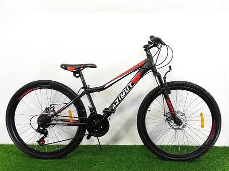 "Спортивный велосипед 26 дюймов Azimut Forest FRD рама 13"" BLACK-RED, фото 2"