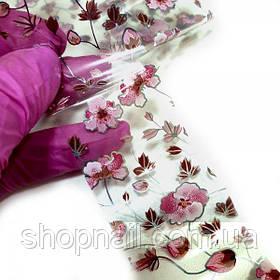 Фольга для нігтів Квіти весна (50 см)