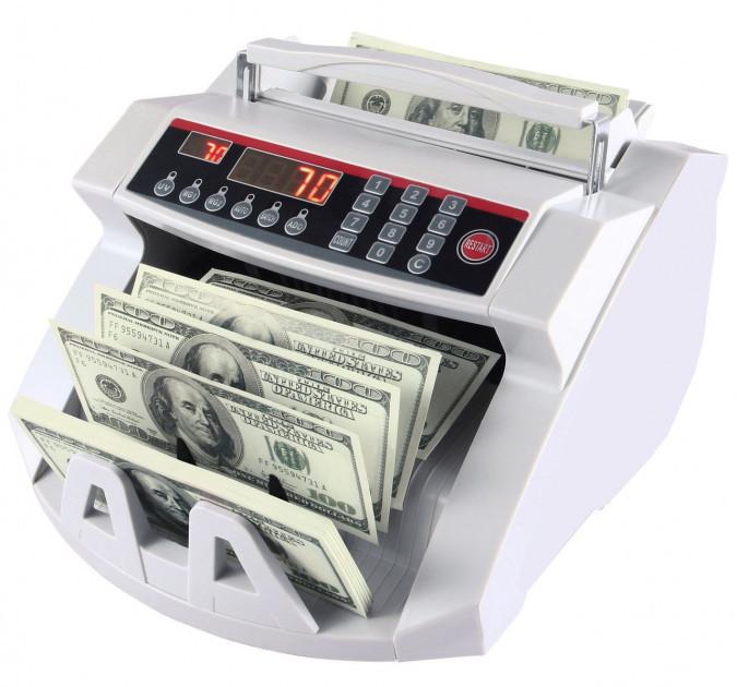 Счетчик банкнот c детектором UV Машинка для счета денег, купюр  c выносным дисплеем Bill-counter 2108