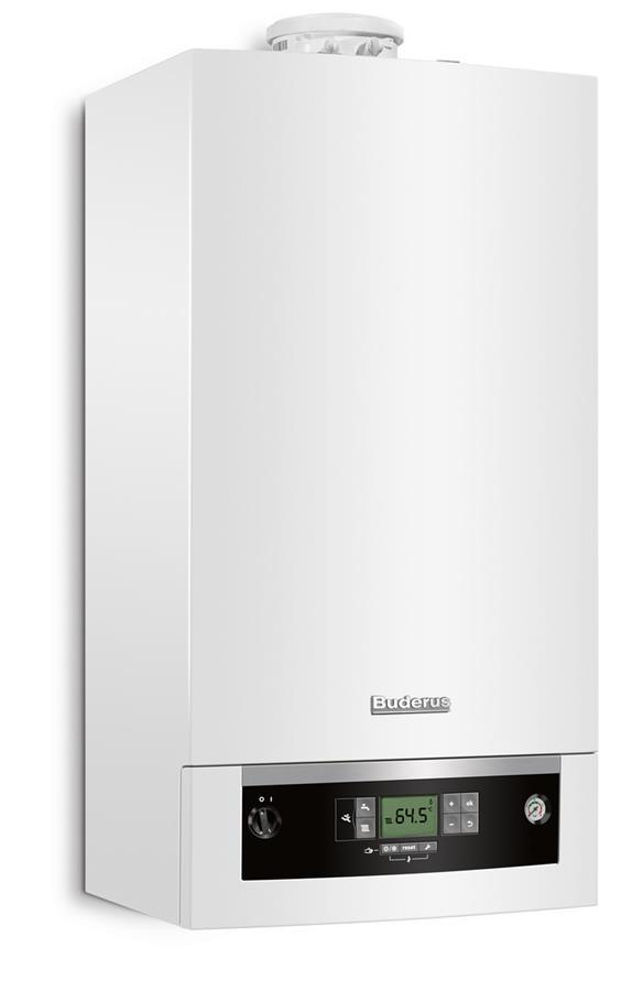 Котел газовий Buderus Logomax Plus GB062-24 KD, конденсаційнний, двоконтурний, 28 кВт, настінний