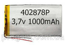 Аккумулятор универсальный 402878P 2.8 cm х 7.8 cm 3.7v 1000 mAh