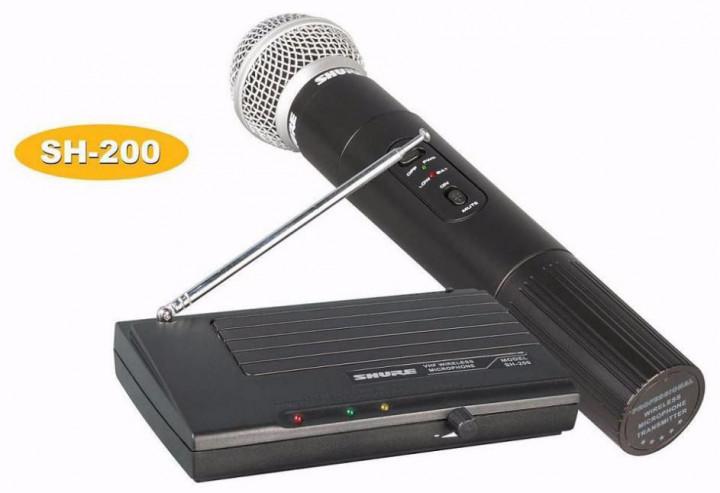Радиосистема с ручным радиомикрофоном Shure SH200 для вечеринок караоке вокальный микрофон с базой