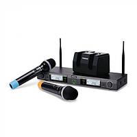 Профессиональная радиосистема для вокала ,караоке, вечеринок, База для 2 радиомикрофонов
