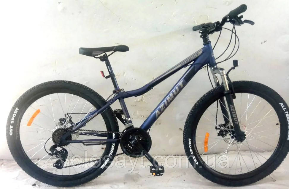 "Спортивный велосипед 26 дюймов Azimut Forest FRD рама 13"" BLUE"
