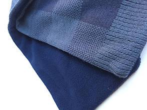 Детский шарф для мальчика BRUMS Италия 133BDLB003 темно-красный, темно-синий, белый