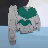 Спортивный костюм для дома Little Bunny теплый штаны + джемпер S Мятно-серый (2455114)