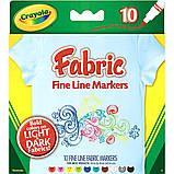 Crayola маркеры для рисования на ткани Fine Line Fabric Markers, фото 5